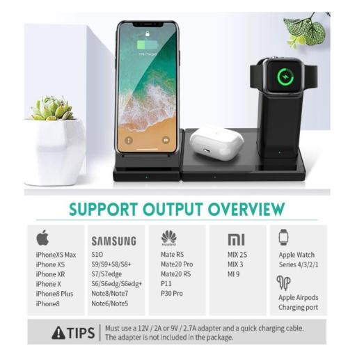 Waitiee 3 In 1 Wireless Charger Qi Certified 7 5w Fast