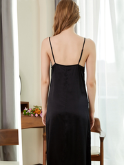 19 Momme Long Sexy Silk Nightgown | Could Out-Wear、Real Silk Life