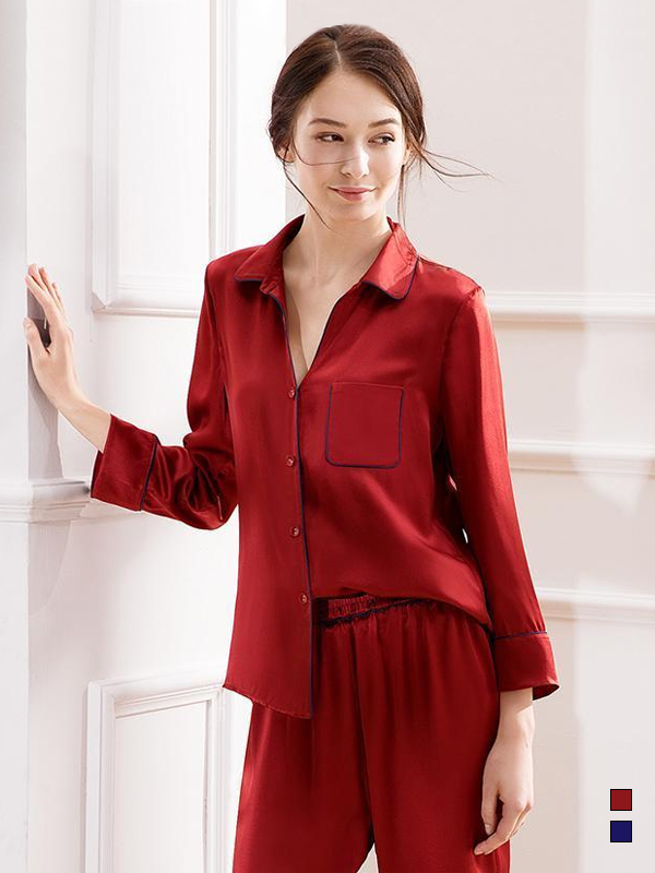 30 Momme Luxury Women's High Quality Silk Pajamas Set (Two Colors Selected)、Real Silk Life