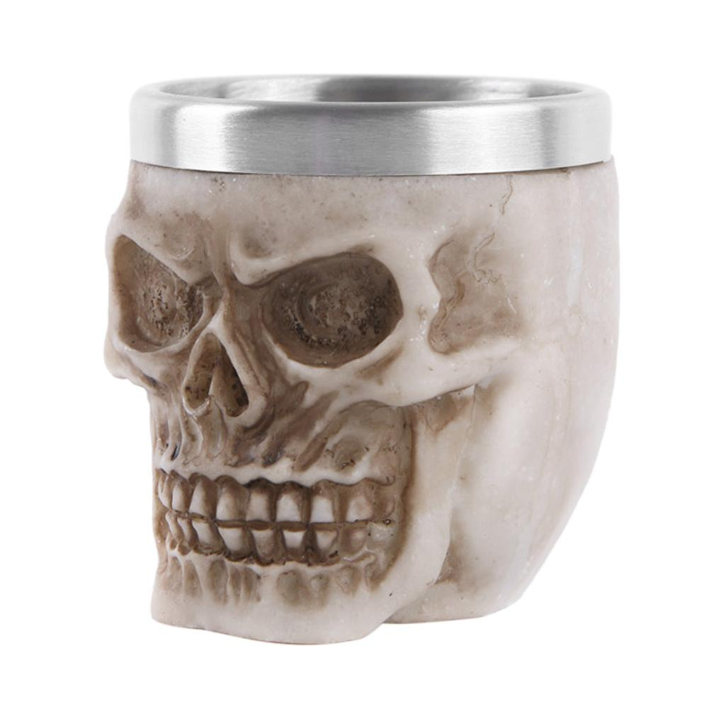 Gothic Skull Resin Beer Mug Retro Bar Whiskey Cup without Handle Home Decor, 501 Original, RS-8174  - buy with discount