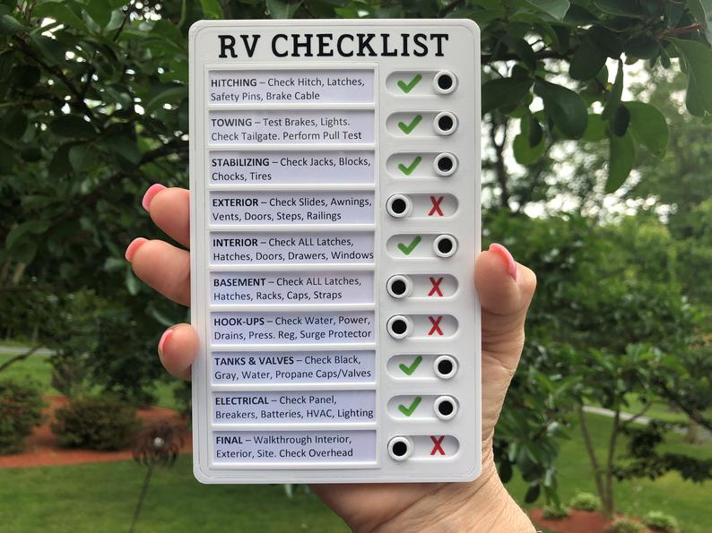 RV Checklist image 0