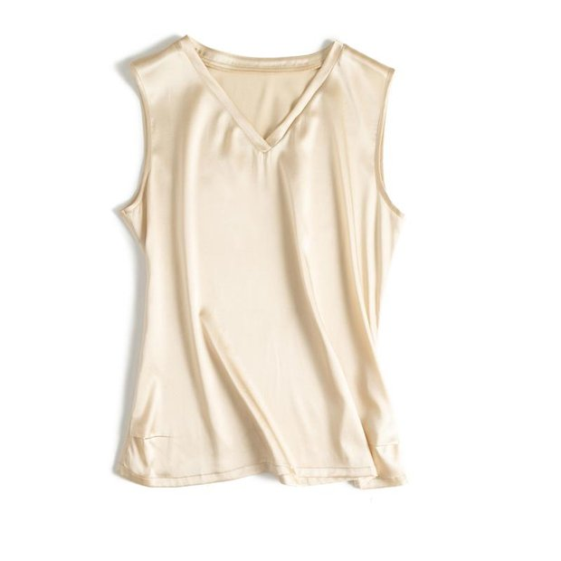 Elegant Round Neck Basic Silk Vest 丨 Multi Colors Selected、Real Silk Life