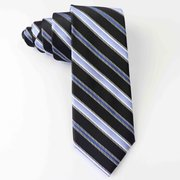 Extra Long Fancy Stripe Silk Tie、Real Silk Life
