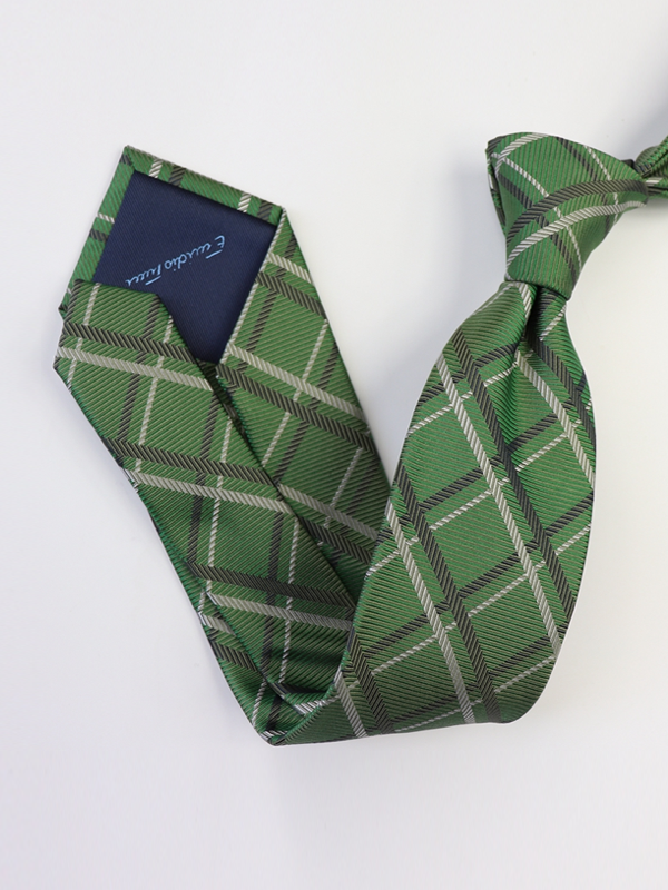 Plaid Silk Tie、Real Silk Life