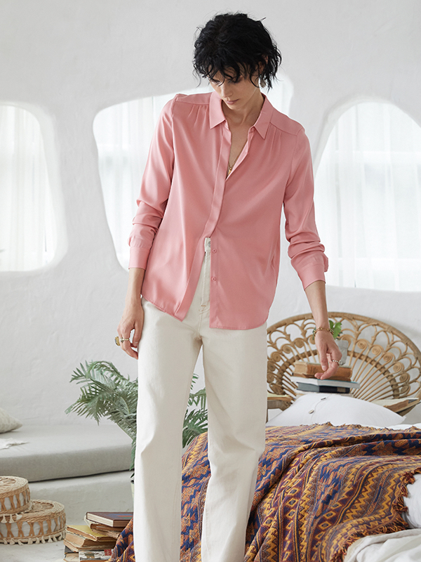 Sophisticate Pink Silk Shirt、Real Silk Life