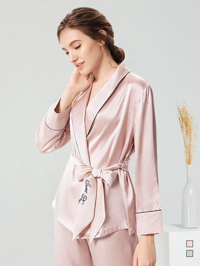 25 Momme Women's Elegant Silk Pajamas Set、Real Silk Life