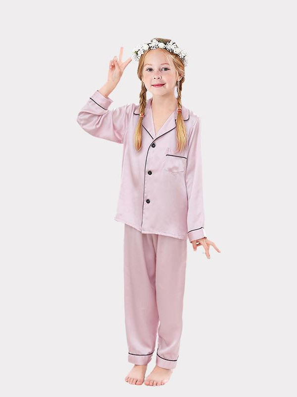 Classic Silk Pajamas Set For Girl、Real Silk Life