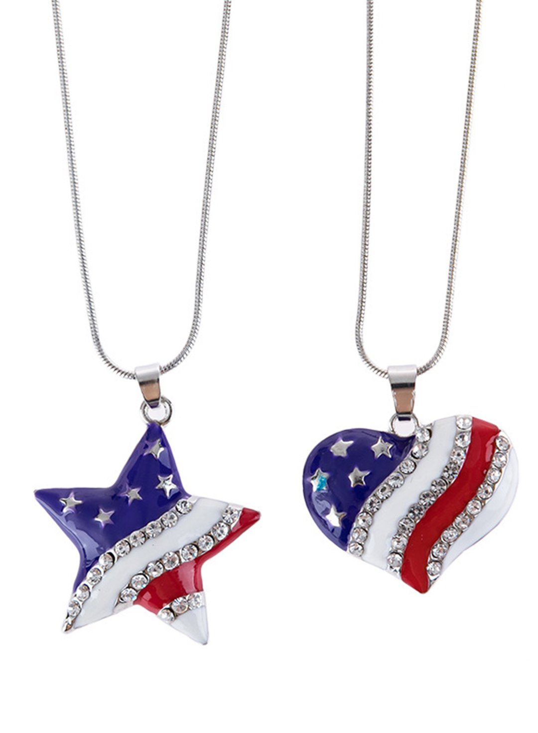 Blue Women's Necklaces Texas Independence Day Flag Stylish Casual Necklace LC011324-5