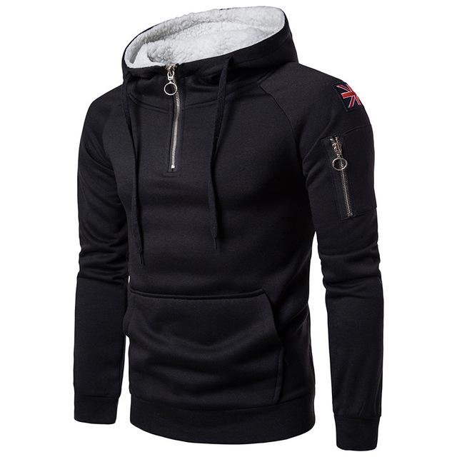 Solid Color Outdoor Long-sleeved Hoodie / [viawink] /