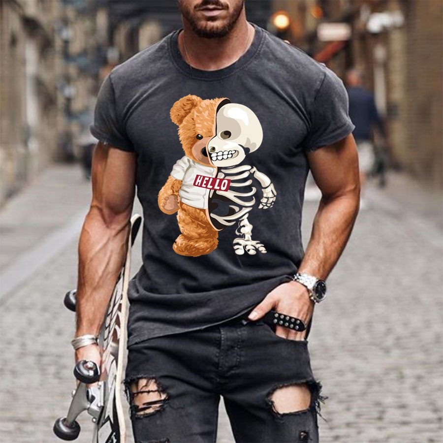 Personalized bear fashion casual T-shirt / [viawink] /