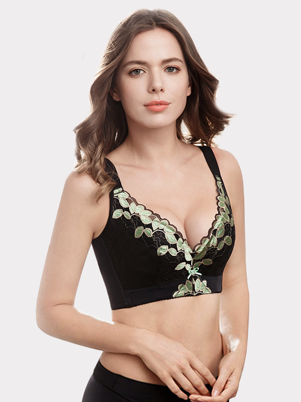 Luxury Lacey Thin Silk Bra Black