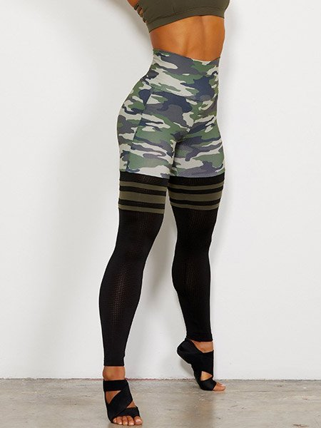 b304acbe5 High Waist Thigh-Highs 'Camo'-Gym