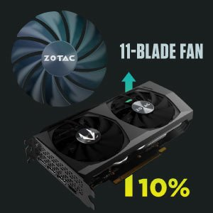 ZOTAC GAMING GeForce RTX 3060 Twin Edge OC Graphics Card ZT-A30600H-10M NVIDIA Ampere