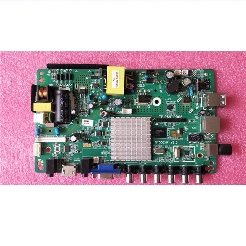 32-Inch Motherboard Tp. R69 Pd66 Qt552hp V2.5 with Screen Adjustable with Remote Control - Cakeymall