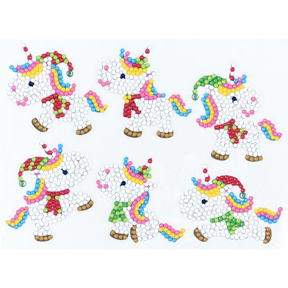 Peggybuy coupon: 6pcs White Horse- 5D DIY Craft-Sticker
