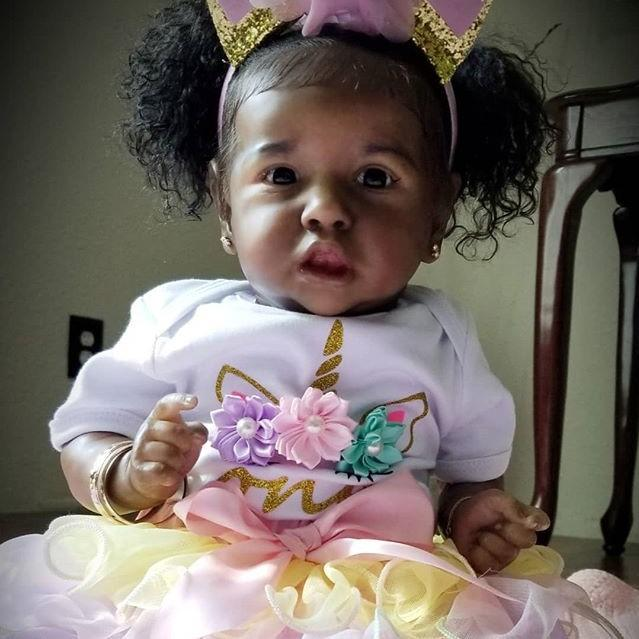 22 Realistic Black Reborn Saskia Baby Toddler Doll Girl