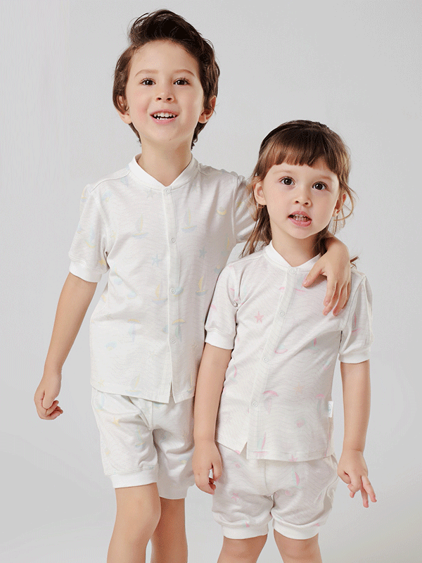55% Mulberry Silk Smooth Silk Pajamas For Kids、REAL SILK LIFE