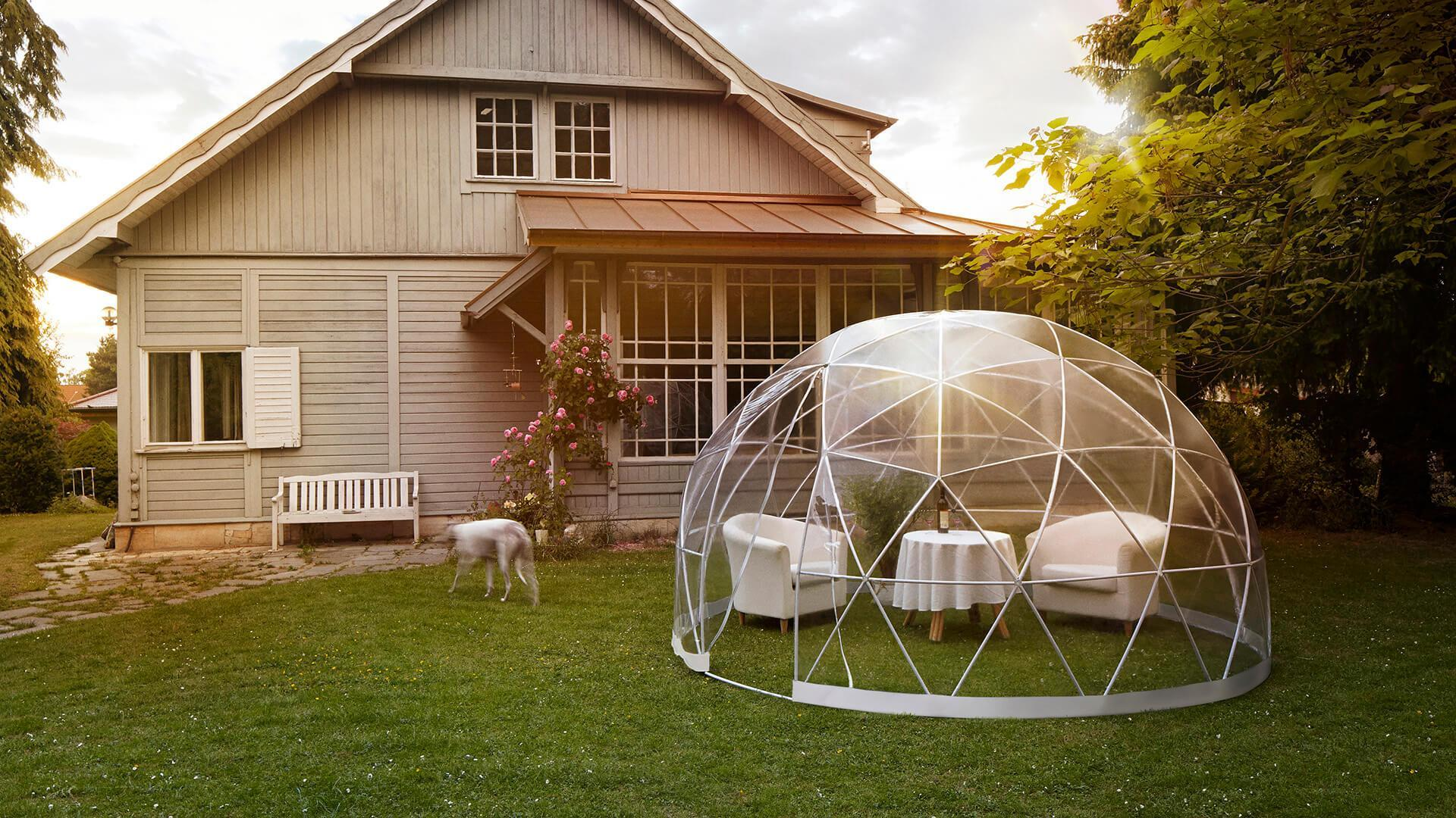 Garden Igloo | Garden Igloo - Stylish Conservatory, Greenhouse, Hot Tub  Cover, Gazebo