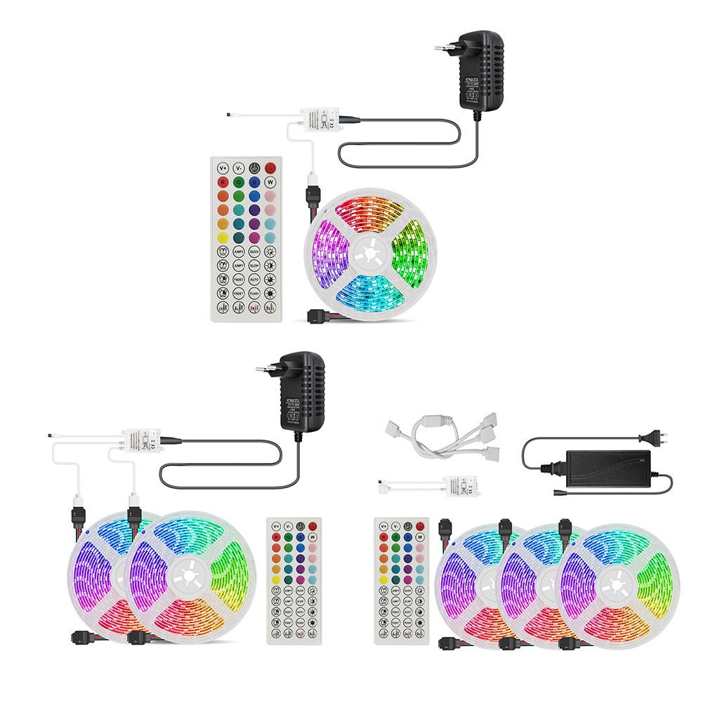 5m 10m 15m LED Strip Light RGB SMD2835 Flexible Ribbon Bluetooth-compatible Phone APP, 501 Original, Cesdeals  - buy with discount