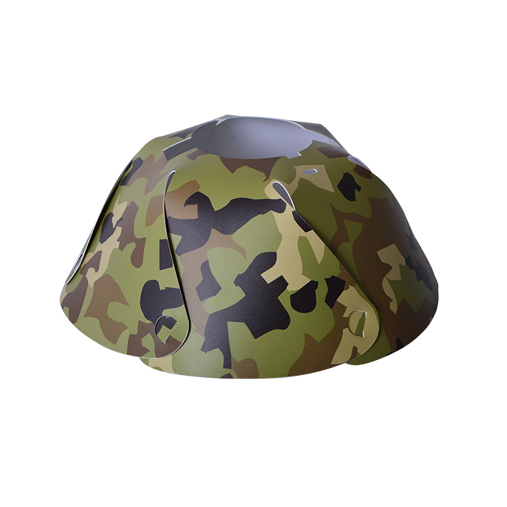 PVC Camping Tent Lantern Lamp Shade Camouflage Outdoor Cone Light Hood Cap