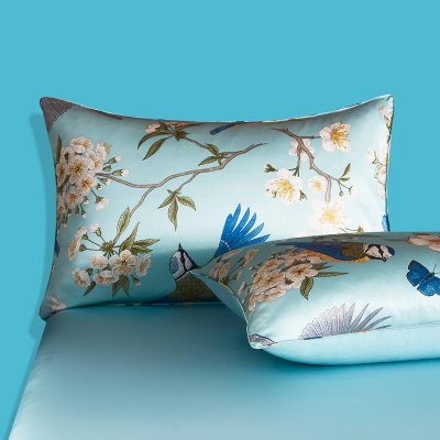 Spring Print Oriental Double Side Silk Pillowcase、Real Silk Life