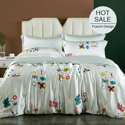 Pitcher Printed Silk Duvet Cover Set Bedding Set| 4pcs、RealSilkLife