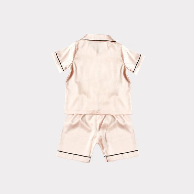 Classic Short Silk Pajamas Set For Kids、Real Silk Life
