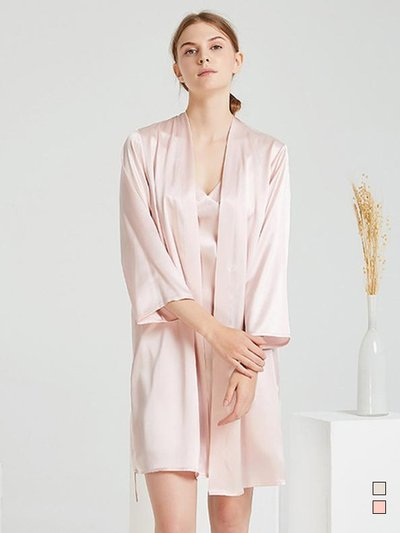 22 Momme High Quality Silk Robe Set-Two Pieces | Multi-Colors Selected、Real Silk Life