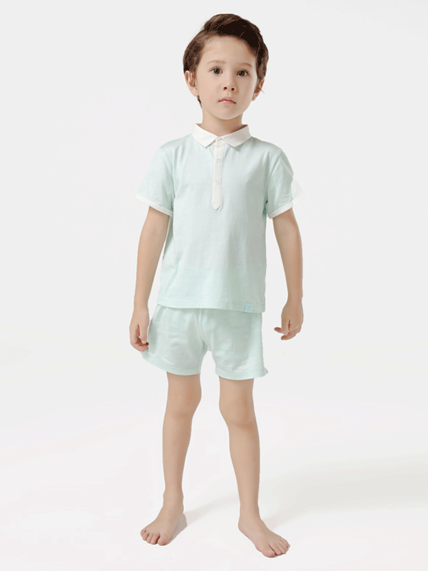 55% Mulberry Silk Neat Silk Tee For Kids、REAL SILK LIFE