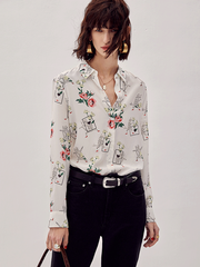 French Design Floriculture Silk Shirt、Real Silk Life