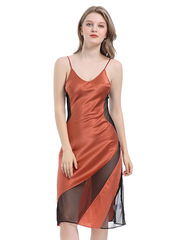 Classic V Neck Silk Nightgown| Multi-Colors Selected、Real Silk Life