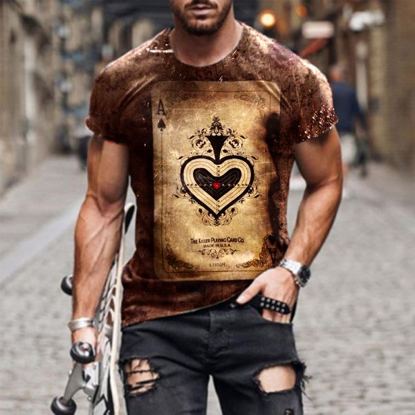Mens outdoor casual round neck T-shirt / [viawink] /