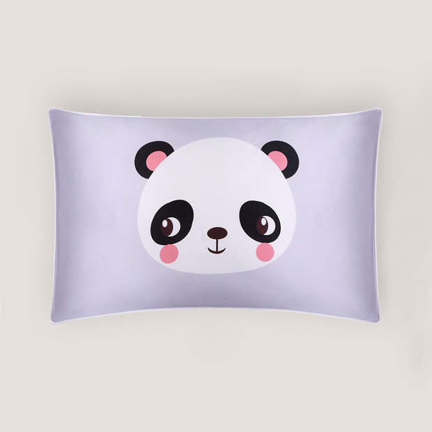 Baby Panda Double Side Mulberry Silk Pillowcase For Kids Envelope Closure、Real Silk Life