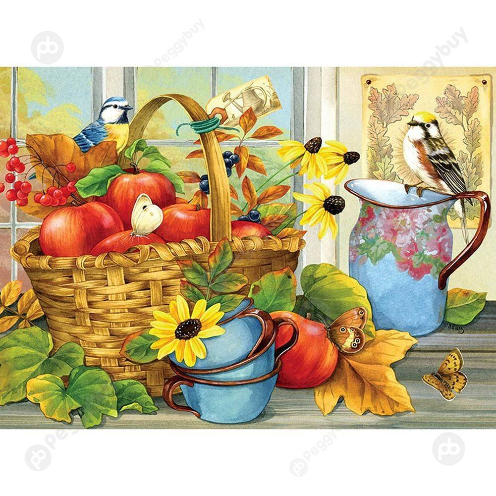 30*25CM Special Shaped Diamond Painting-Fresh Fruitss
