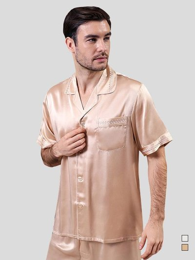 25 Momme Luxury Chic Silk Pajamas Set for Men、Real Silk Life