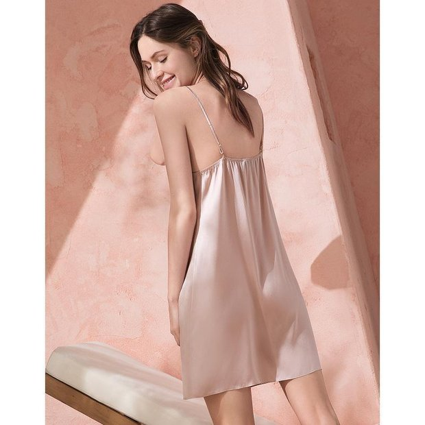19 Momme Women's Classic Silk Nightgown 2019、Real Silk Life