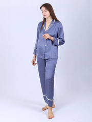 22 Momme Double-Breasted Silk Pajamas For Women、Real Silk Life
