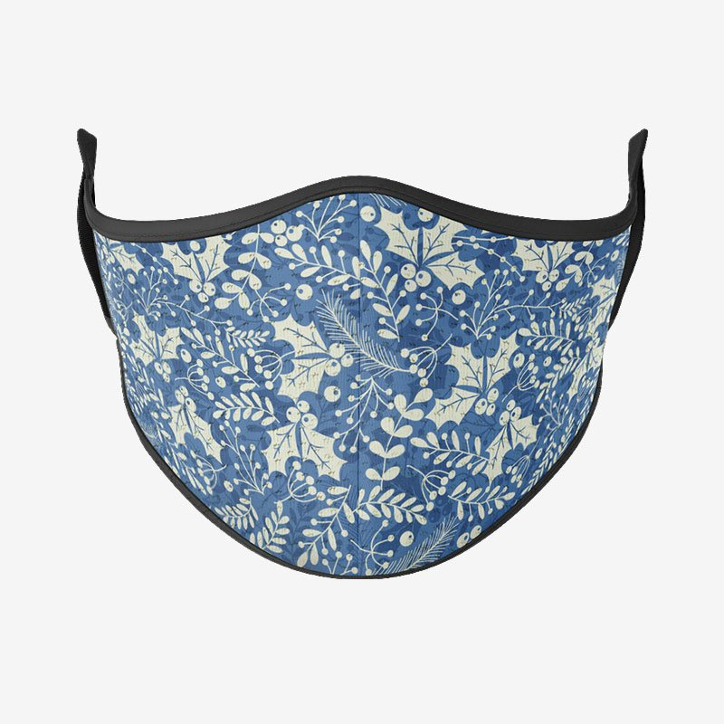 Mistletoe Pattern Reusable Face Mask-Maskup