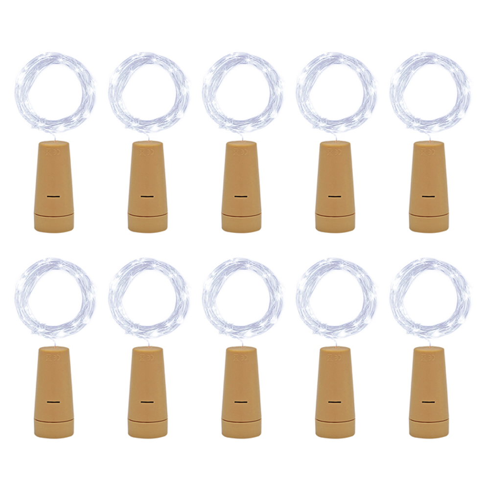 11m LED String Cork Button Copper Wire Fairy-String Light, 501 Original, Cesdeals, White Light+1m+1 - buy with discount