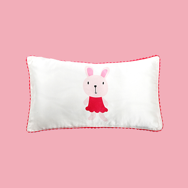16 Momme Miss Bunny Single Side Mulberry Silk Pillowcase For Kids Envelope Closure、Luxury Silk Life