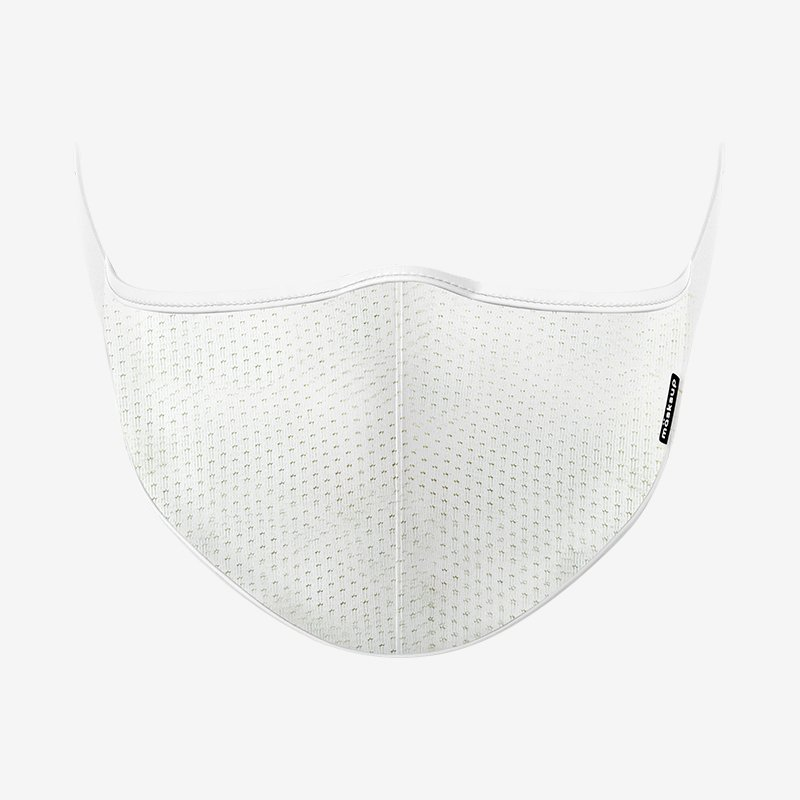 White Pattern Reusable Face Mask-Maskup