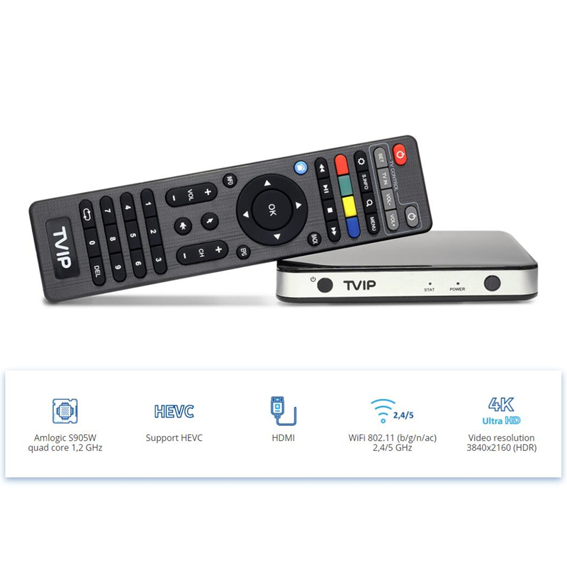 4K Tvip 525 Linux Tv Box  S905W Quad core Wifi Ultra HD Set Top Box (2)