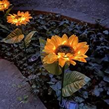 Night Flower, Glowing Flower, Landscape luminescent flower, Sunflower gift, Solar Sunflower