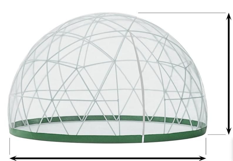 Garden tent, Garden Dome Igloo - 12 Ft Stylish Conservatory, Play Area,  Greenhouse or Gazebo in 2021 | Garden igloo, Winter garden, Jacuzzi covers