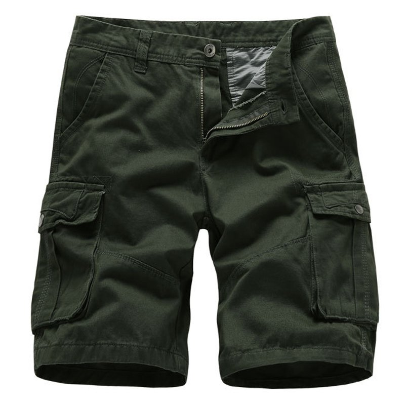 Men's outdoor pure cotton loose multi-pocket cargo shorts / [viawink] /