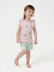 55% Mulberry Silk Lovely Printed Silk Tank For Girls、REAL SILK LIFE