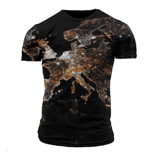 World map print T-shirt / [viawink] /