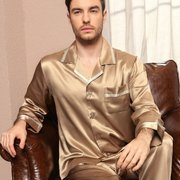 30 Momme Luxury Silk Pajamas Set for Men、Real Silk Life