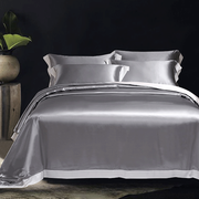 19 Momme Contrast Colors Silk Duvet Cover Set| 4pcs、RealSilkLife