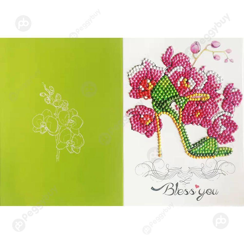 Peggybuy coupon: High Heel Shoes-Creative Diamond Greeting Card